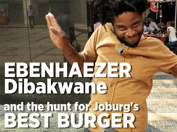 Watch: Comedian Ebenhaezer Dibakwane goes in search of Joburg's best burger