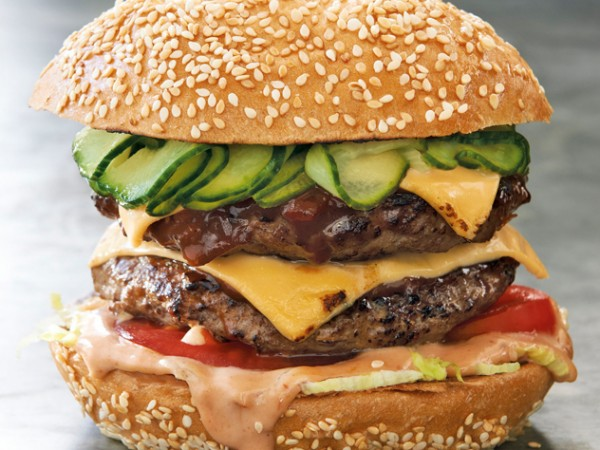 A double cheese whopper from Gibson's. Photo supplied.