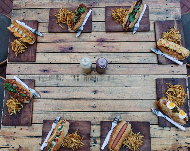 Gourmet dogs at The Great Dane. Photo supplied.