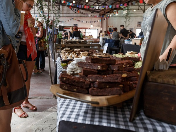 Brownies at the Market @ The Shed. Photo by Henry Marsh.