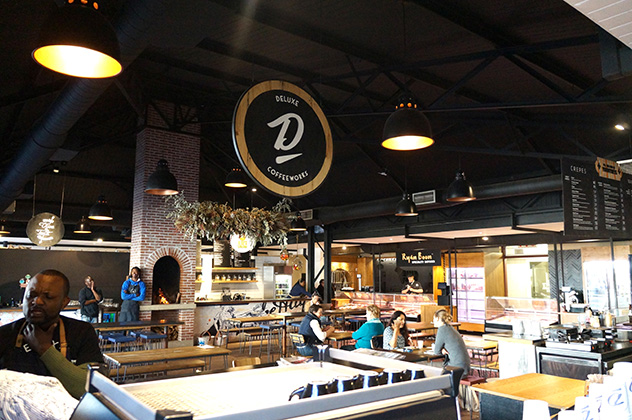 The restaurant is housed inside De Warenmarkt. Photo supplied.