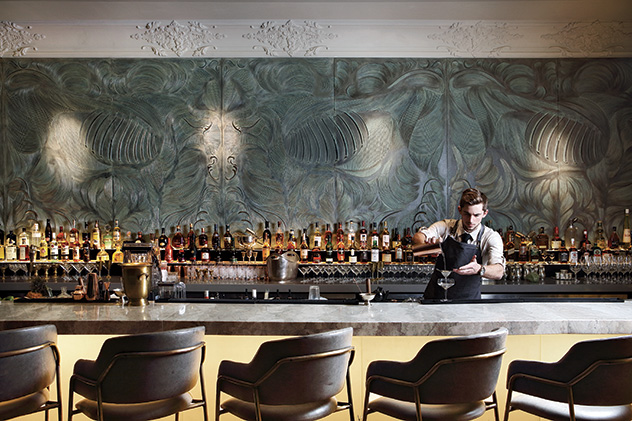 The handsome bar at Marble. Photo supplied.