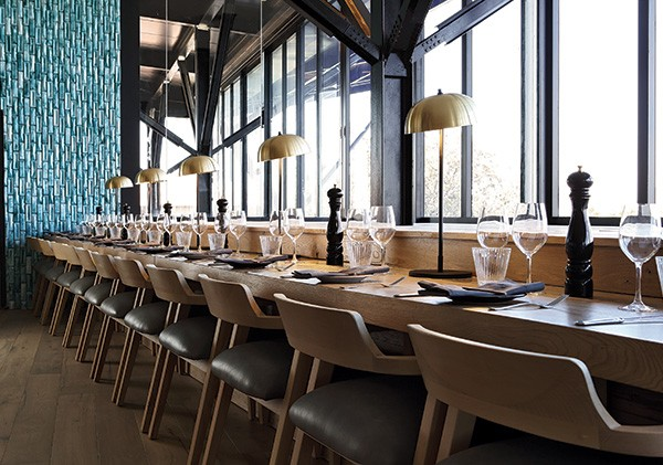 Tables at the windows offer a bird's eye view of Rosebank. Photo supplied.