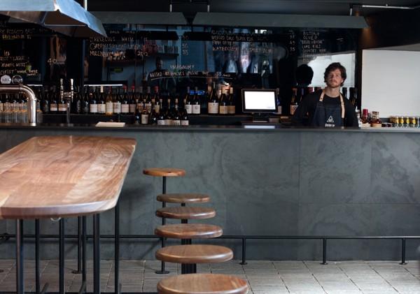 The bar inside ASH. Photo by Matthew Ibbotson.
