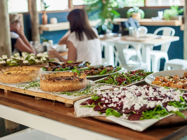 The lunchtime spread at Delish Sisters. Photo supplied.