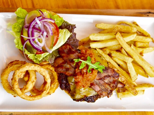 The Ranchero burger at The Eatery Wood Fired Grill. Photo supplied.