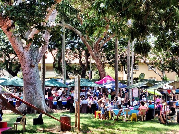 The busy Essenwood Morning Market. Photo supplied.