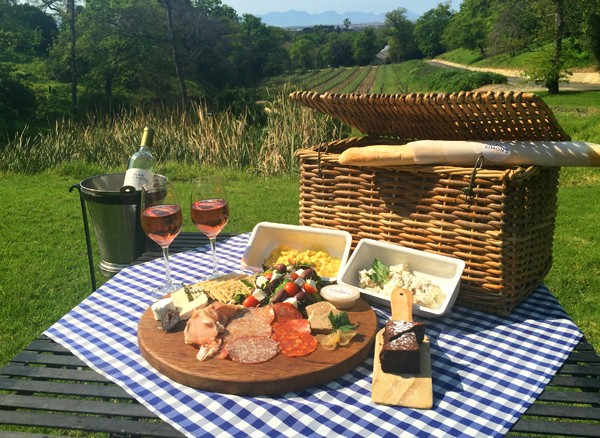 A picnic spread at Simon's at Groot Constantia.