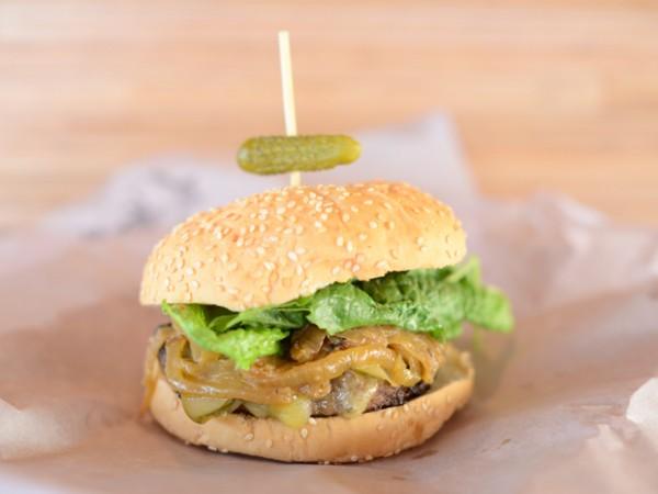 A burger at Surf Riders. Photo supplied.