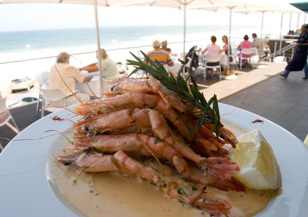 Bel Punto's King prawn platter.