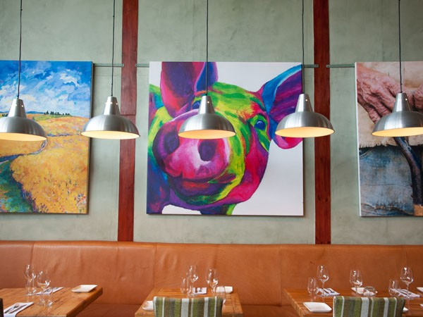 The bright, farm-themed artwork in Coobs. Photo supplied.