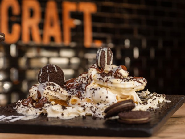 The cookies and cream waffle at Craft. Photo supplied.