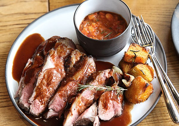 The steak fillet with roast potatoes at EB Social Kitchen & Bar. Photo supplied.