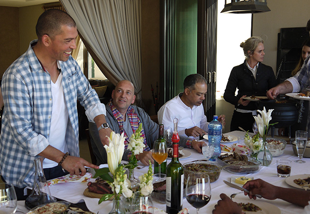 The show ends with a braai in the winelands. Photo supplied.
