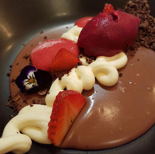 The dessert. Photo by Lynda Cooper.