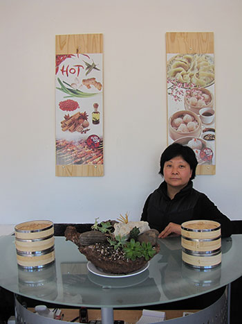 Taste of Mongolia's Jianli Liu left a career as an accountant to open her dumpling shop. Photo by Graham Howe.