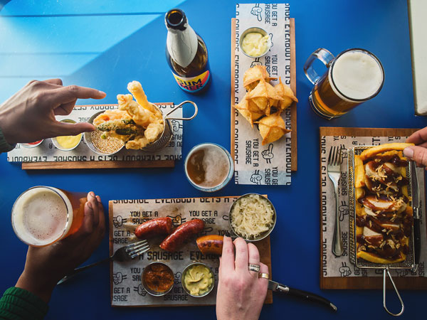 The Sneaky Sausage opened up recently on Cape Town's Shortmarket Street offering gourmet hot dogs and sausages. Photo supplied.