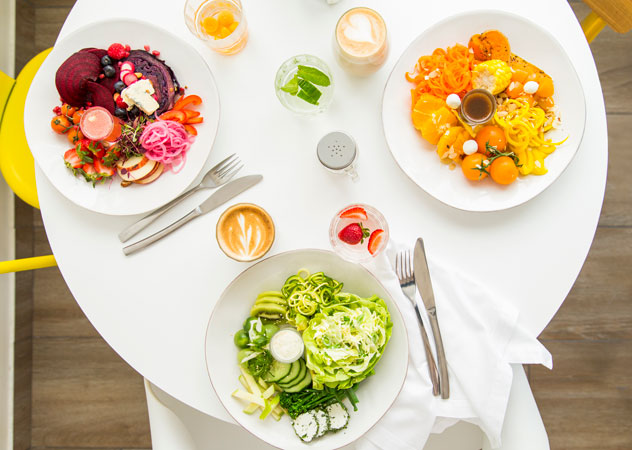 A colourful spread at Betty Blue Bistro. Photo supplied.