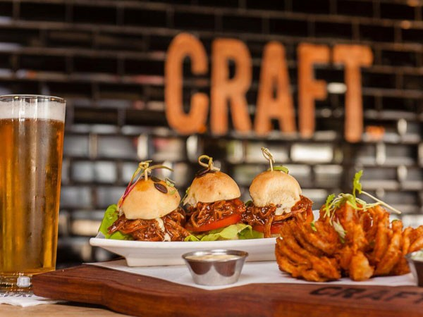 Pulled pork sliders at Craft in Parkhurst. Photo supplied.