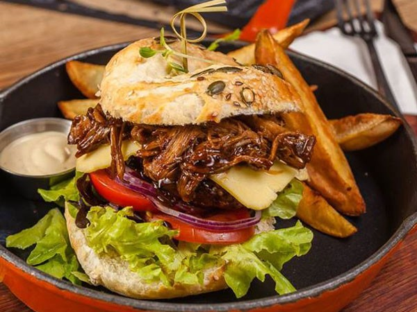 A saucy burger at Craft in Parkhurst. Photo supplied.