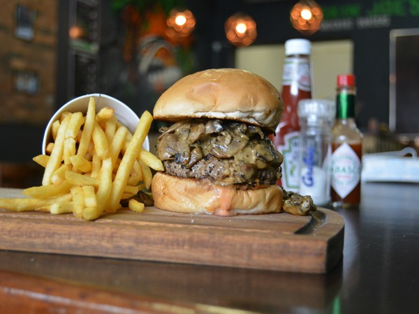A saucy burger at Smokin' Joe's in Durban. Photo supplied.