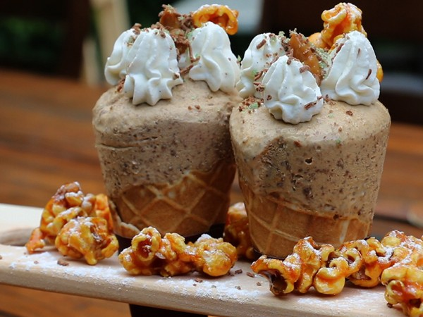 dessert prepared and served at Spek & Bone
