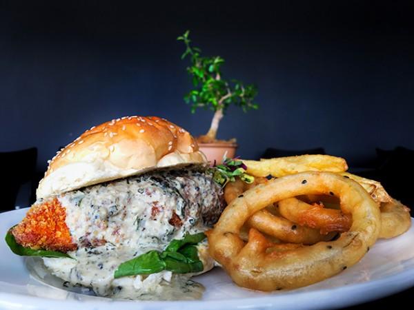 A burger at Capital Craft. Photo supplied.