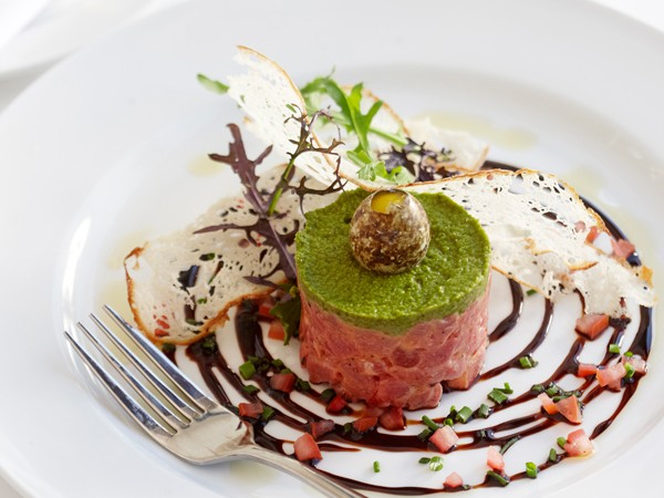 Steak tartare at Harbour House. Photo supplied.