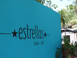 signage outside at Estrellas