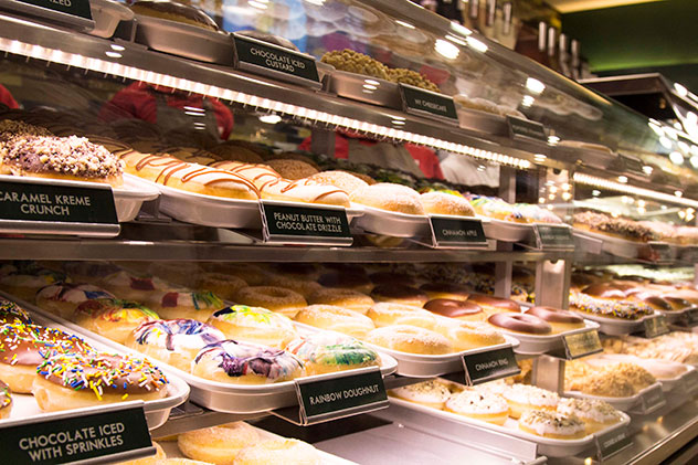 Doughnut options at the Rosebank branch. Photo by Rupesh Kassen.