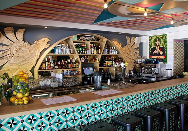 The beautiful bar at Perron. Photo supplied.