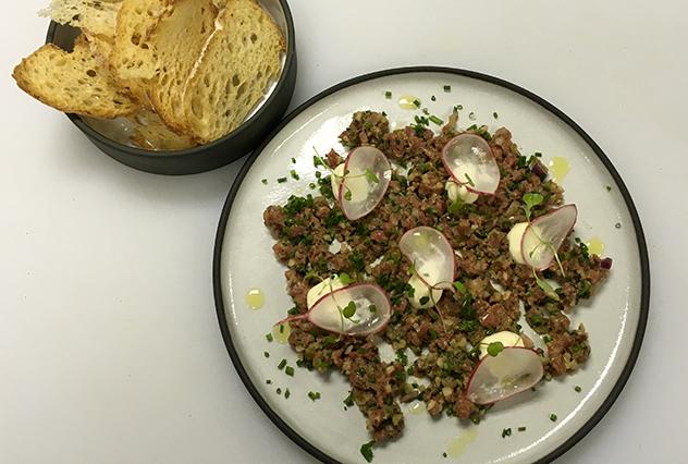 The steak tartare at tashas. Photo supplied.