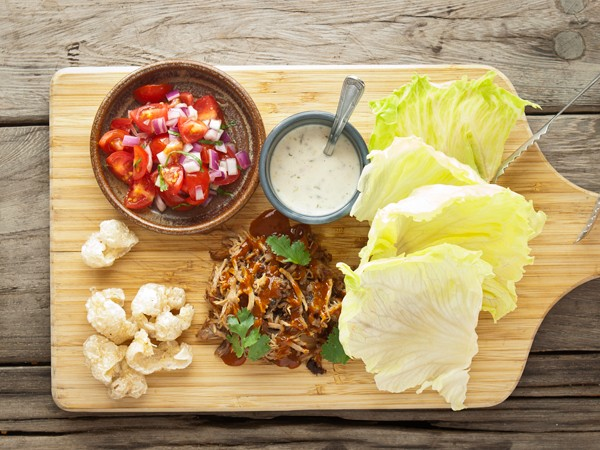 The pulled pork lettuce wraps at Origins. Photo supplied.
