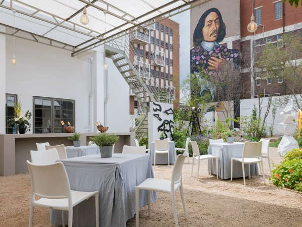 the bright outdoor area at cube tasting kitchen in maboneng photo by quintin mills photography - Tasting Kitchen