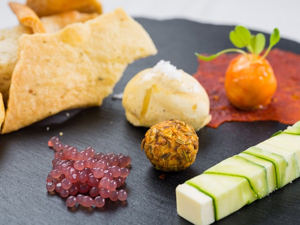 A modern dish at Cube Tasting Kitchen. Photo by Quintin Mills Photography.