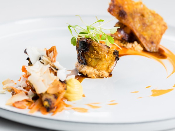 A flavourful dish at Cube Tasting Kitchen. Photo by Quintin Mills Photography.