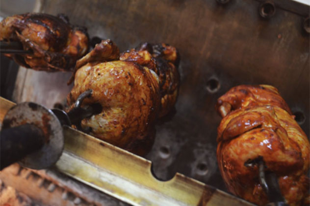 Coal-roast chickens at Glory. Photo supplied.