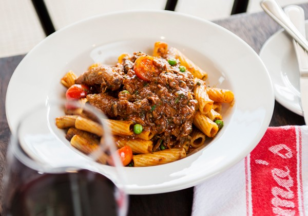 A meaty pasta dish at Remo's Maximilliano. Photo supplied.