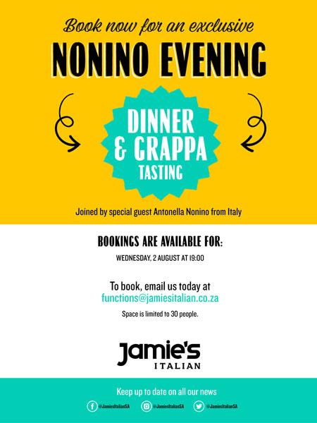 Grappa Evening at Jamie's Italian