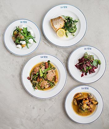 La Tete plates by Claire Gunn
