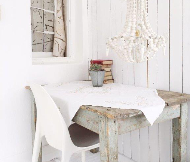 The charming, bleached interior is an oasis in the dry Karoo. Photo supplied.