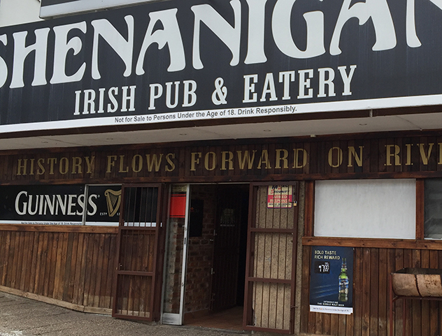 The entrance to Shenanigans. Photo by Sue Shulze.