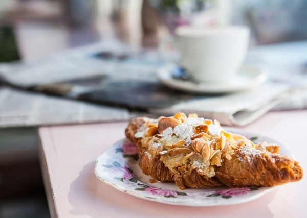 An almond croissant at The Kitchen. Photo supplied.