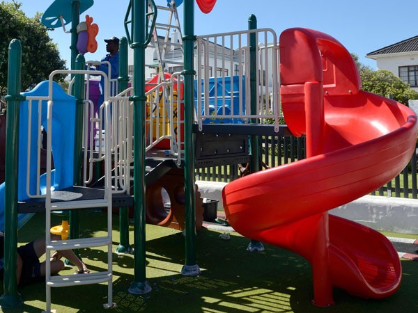 The colourful outdoor play area at Ons Huisie. Photo supplied.