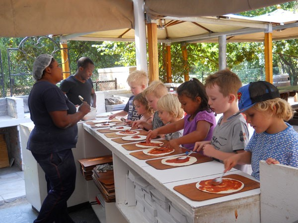 The pizza-making station at Lekker Neh. Photo supplied.