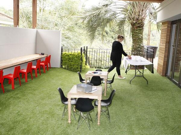 The grassy activities area at Makaranga. Photo supplied.