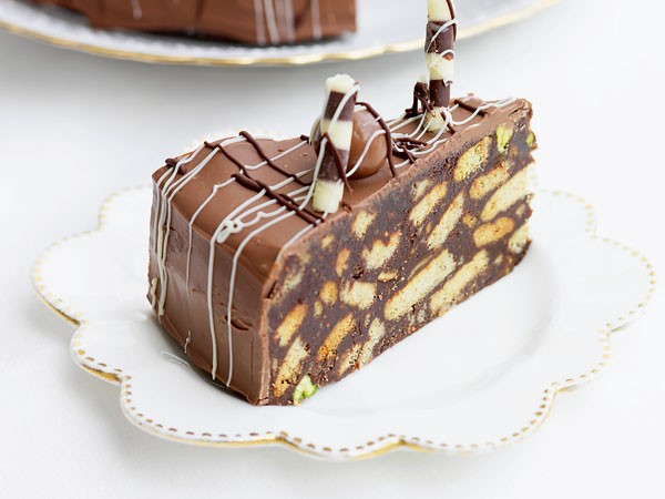 Chocolate biscuit cake. Photo supplied.