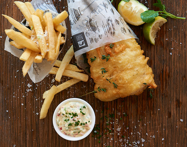 CTFM's most popular dish, the classic fish and chips. Photo supplied.