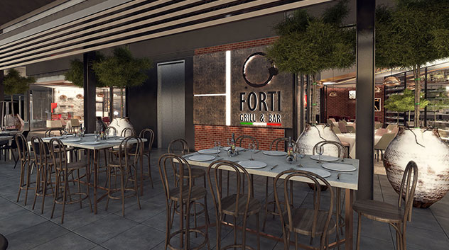 The restaurant's proposed frontage. Renders by architects, Pattichides & Partners.