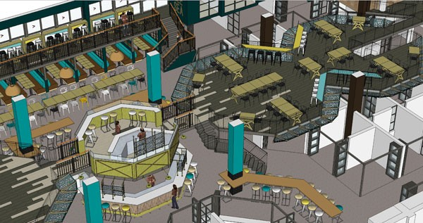 The designer's rendition of the new Mojo Market in Sea Point. Image supplied.